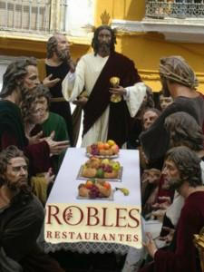 Recreación de la salida 2016: Robles y 12 apóstoles sin piedad ante un JC que no da crédito.
