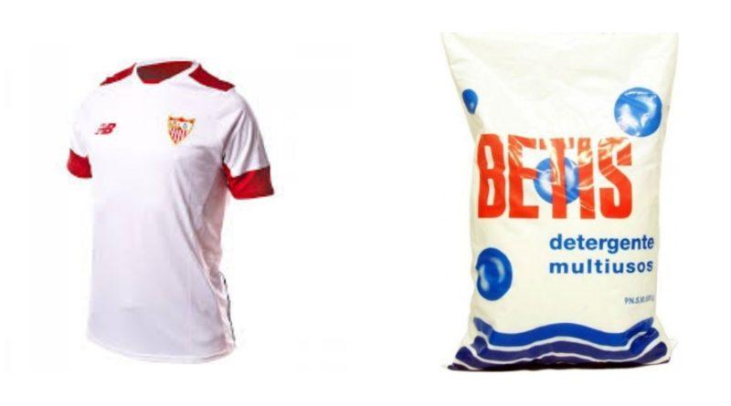 Le sorprenden lavando las camisetas de los jugadores del Sevilla con detergente marca BETIS