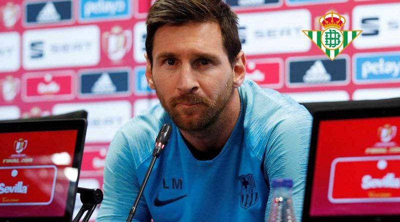 El Betis ficha a Messi, aprovechando el ERTE del Barca