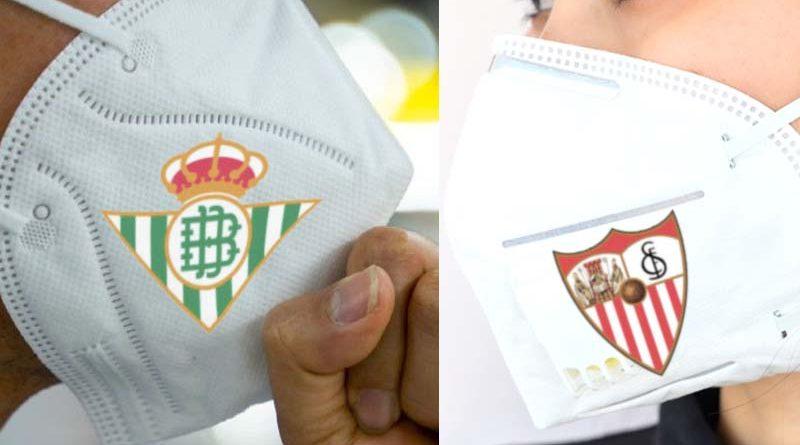 El Ayuntamiento encarga a una empresa mascarillas del Betis y del Sevilla