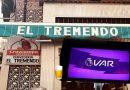 El VAR pillado en el Tremendo, celebrando la victoria del Madrid